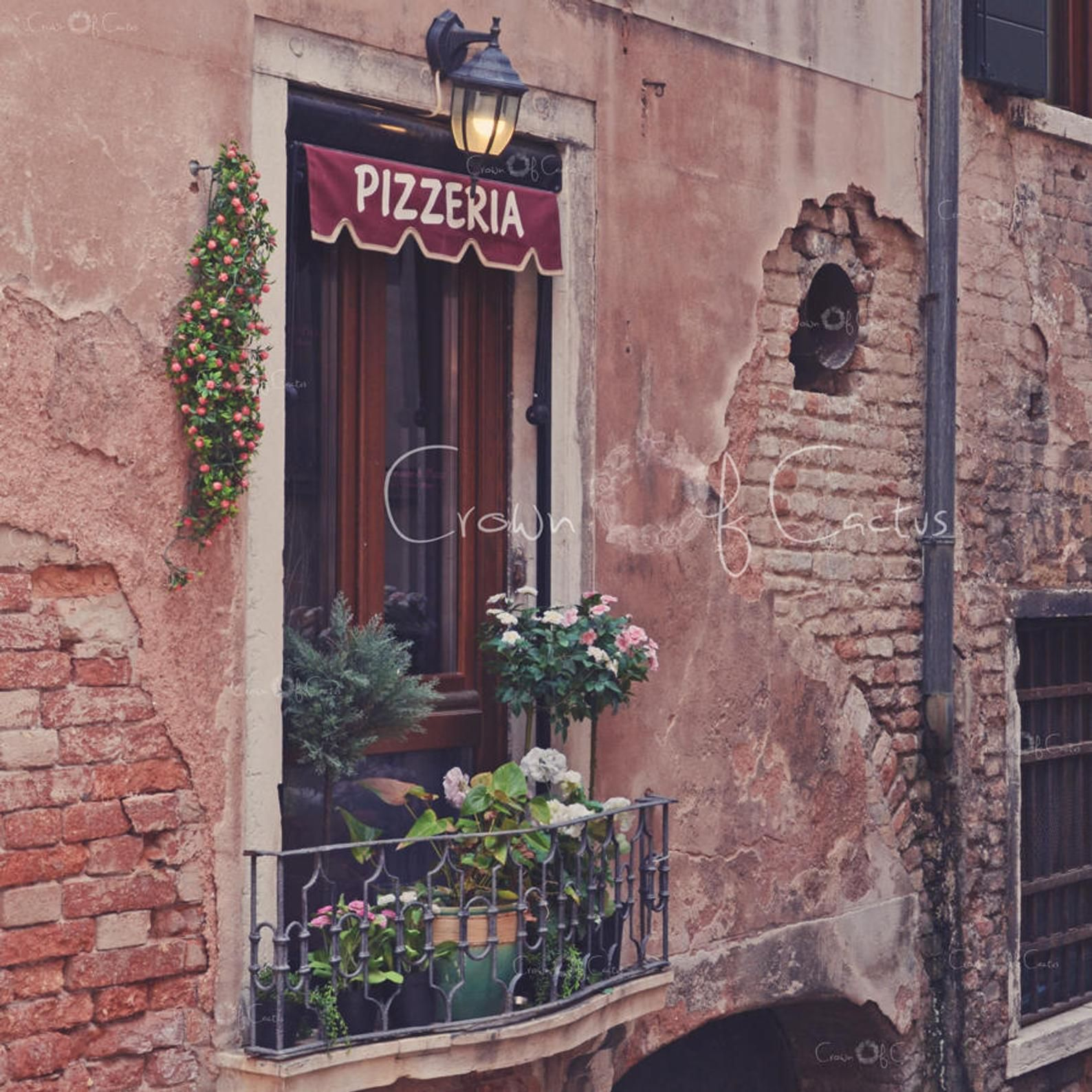 Photo of Pizzeria Venice Italy Old World ~ Instant Digital Download~ Image Print~ Italian Restaurant Photo Wall art decor Kitchen Home Room