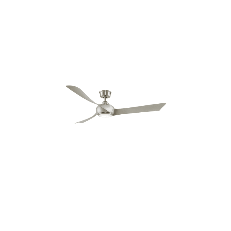 "Fanimation FPD8530BN-60BN-LK Brushed Nickel Wrap Custom 60"" 3 Blade Indoor / Outdoor LED Ceiling Fan with Remote Control and Wall Control"