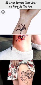Photo of 26 Widder Tattoos, die so feurig sind wie Sie, #Aries #Fiery #Tattoos #tinycons …, #Aries …