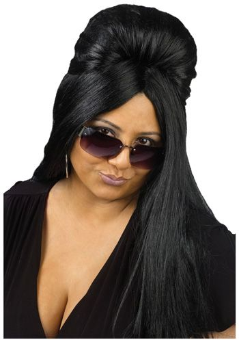 Jersey Shore Adult Snooki Long Curled Wig Guidette Costume Accessory Hair NEW