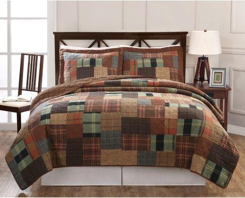 Jewel Tone Plaid Quilt Set, Jewel Tone Bedding