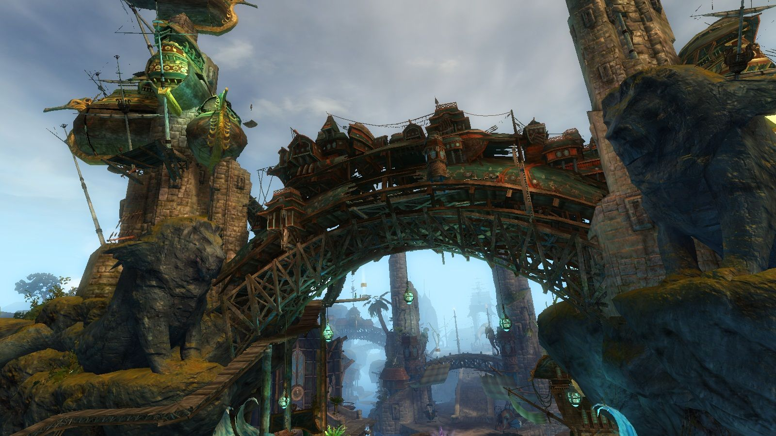 The merchant/trader area of Lion's Arch | Guild Wars | Guild