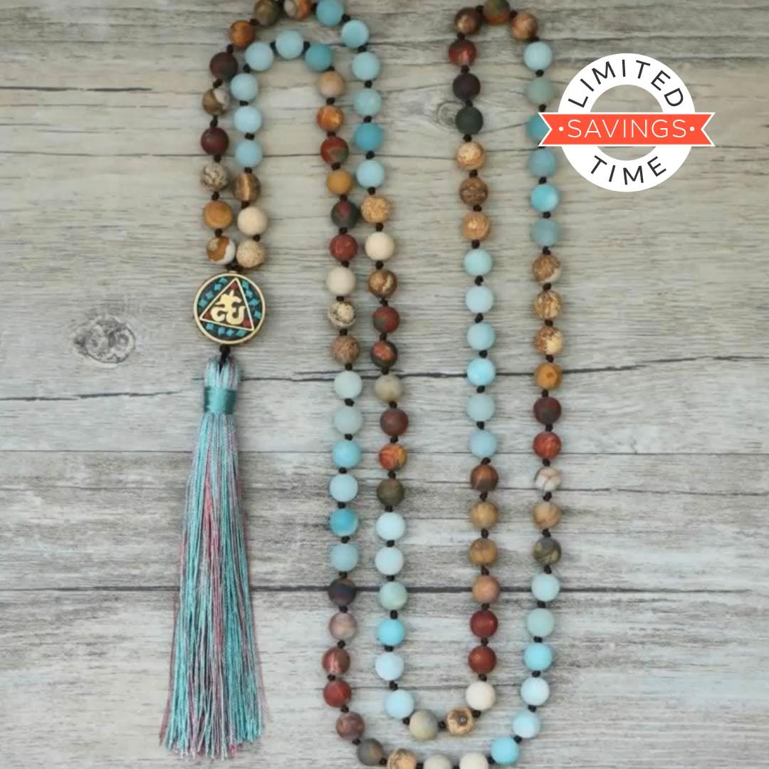 Photo of 🧘 💝 Beautiful Handmade Natural Stone Mala Necklace