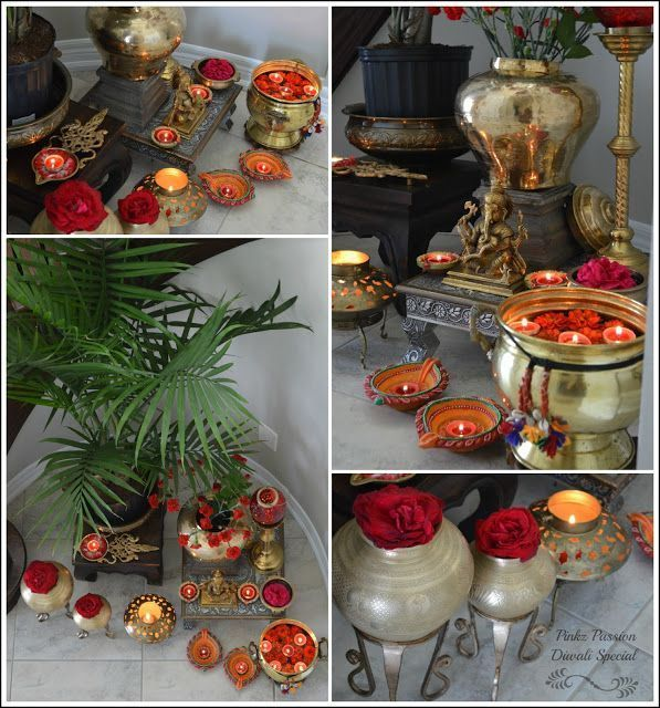 Brass Decor Deepavalli Diwali Home Ganesha Collage