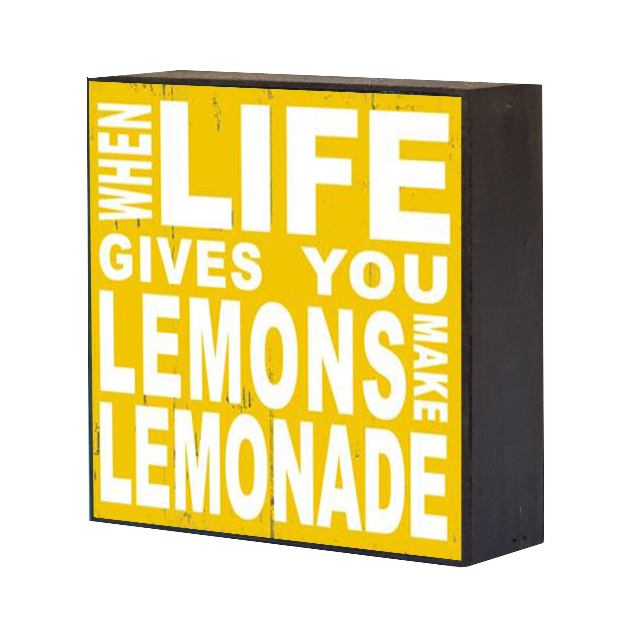 Lemonade\' Wood Box Wall Décor   Products   Pinterest   Products