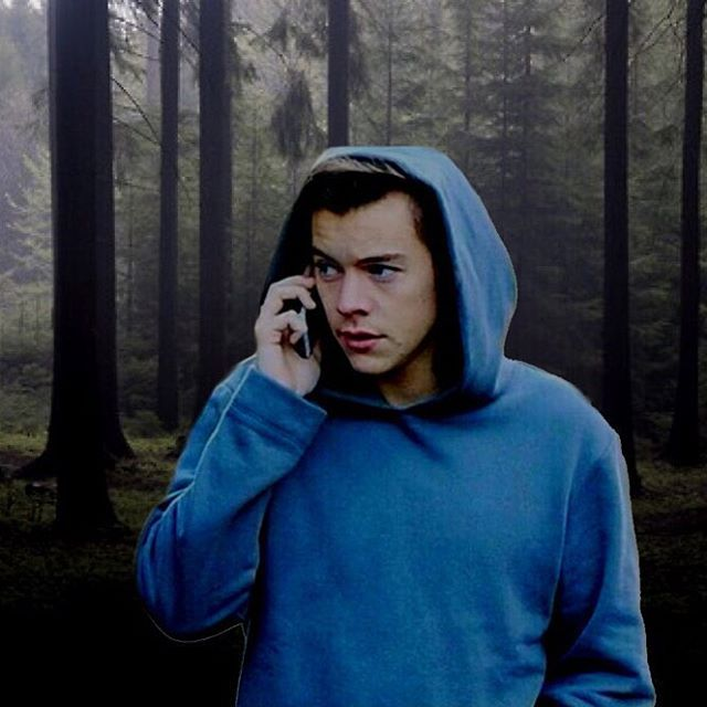 BUT I MADE AN EDIT AND IDEK WHAT I WAS GOING WITH THIS BUT IT LOOKS HARRY IS STALKING SOMEONE IN THE FOREST AND ITS KINDA HOT