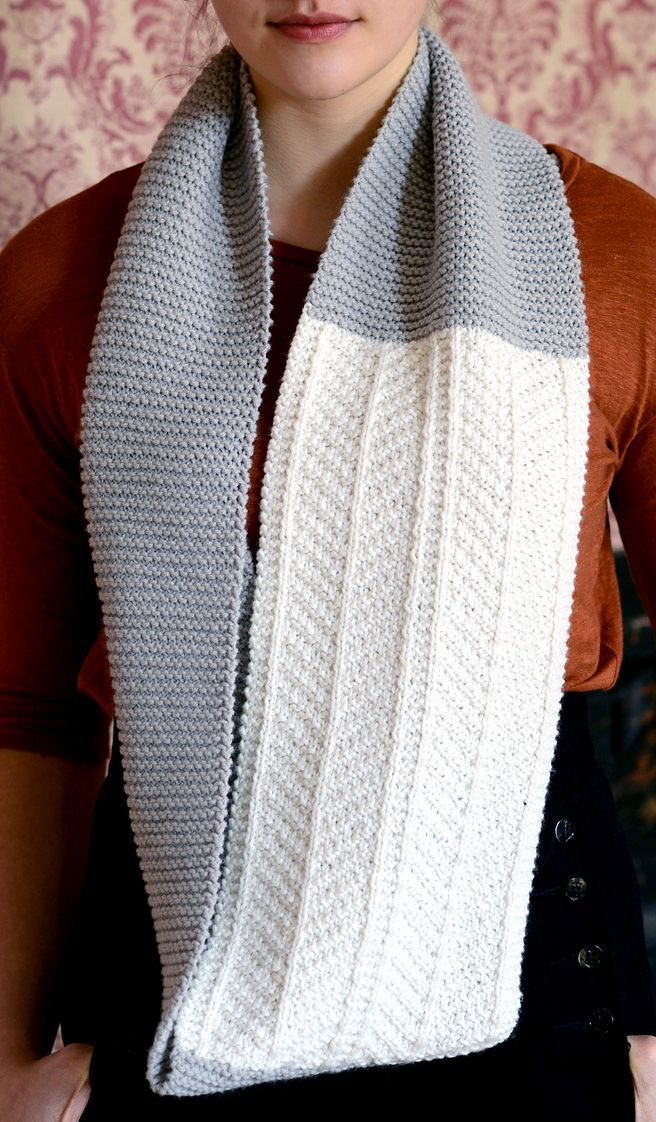 Knitting Pattern for Dagny Cowl - This infinity scarf cowl features ...