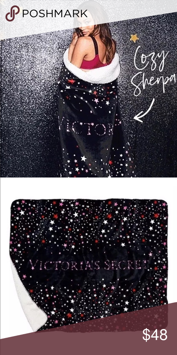 "373f9d004355bb Victorias Secret Sherpa Blanket Soft Throw Blanket Victoria's Secret 2018  Cozy Sherpa Blanket Super Soft Throw Blanket 50""x60"" New! Victoria's Secret  Other"