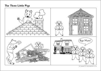 three little pigs sequencing sheets sb902 sparklebox fairytales pinterest three little. Black Bedroom Furniture Sets. Home Design Ideas
