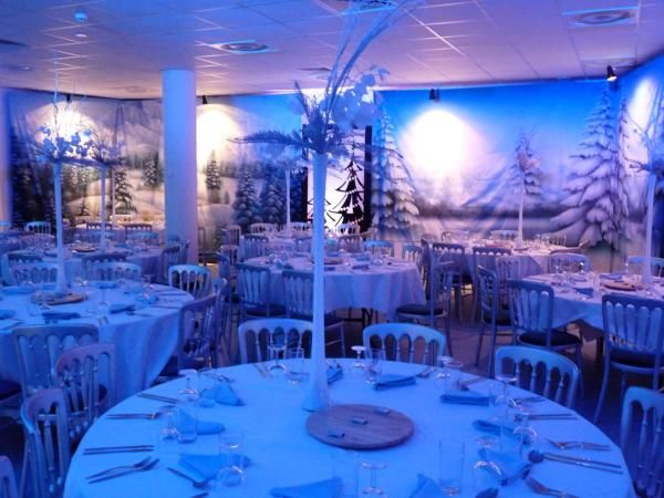 winter wonderland themed event and winter wonderland theme party night