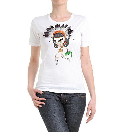 Dsquared2 Women's S72gc0803s22313100 White Cotton T-Shirt. UK t-shirt. t-shirts. Women t shirt. Women t shirts. It's an Amazon affiliate link.