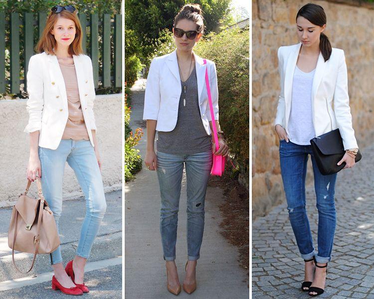 La #chaqueta #blanca del verano: el #blazer en color blanco