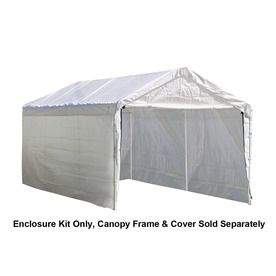 Shelterlogic White Polyethylene Storage Shed Enclosure Kit 25774 White Canopy Canopy Shed
