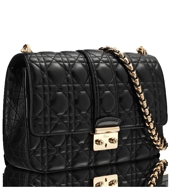 """Black leather """"Miss Dior"""" bag."""