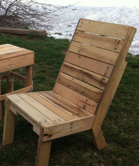 Handcrafted In Maine Recycled Wood Pallet Chair By SeasidePalletDesigns