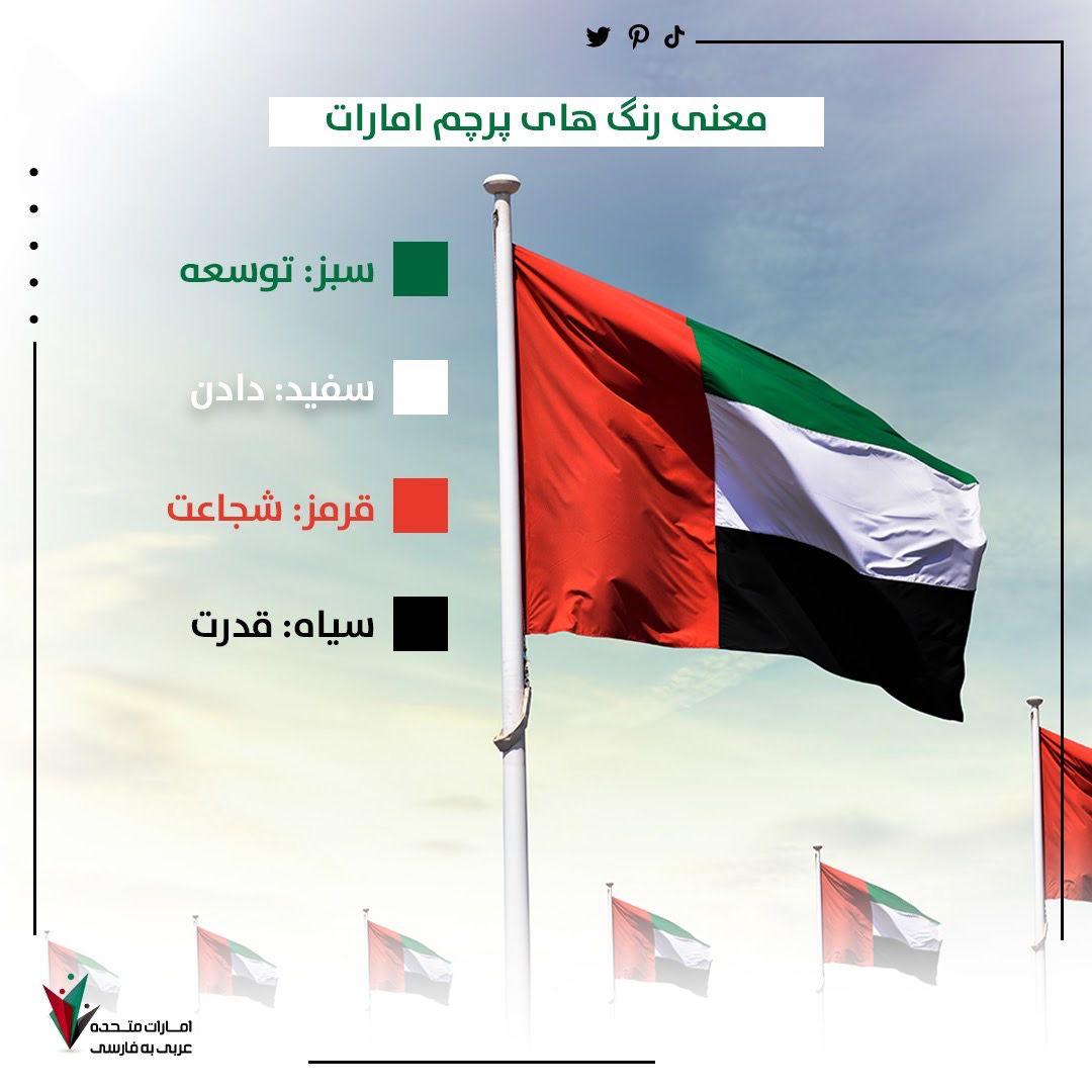 شهروندان و ساکنان پرچم امارات نماد تسامح همزیستی و صلح است Uae Flag Colours Uae