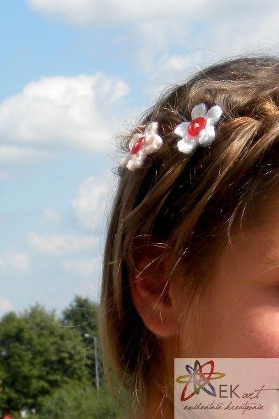 Kwiaty We Wlosach Szydelkowe Spinki Stud Earrings Earrings Jewelry