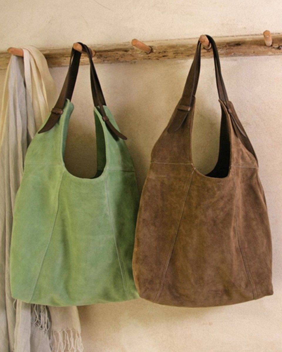 Fairtrade Ovla Slouchy Suede Bag