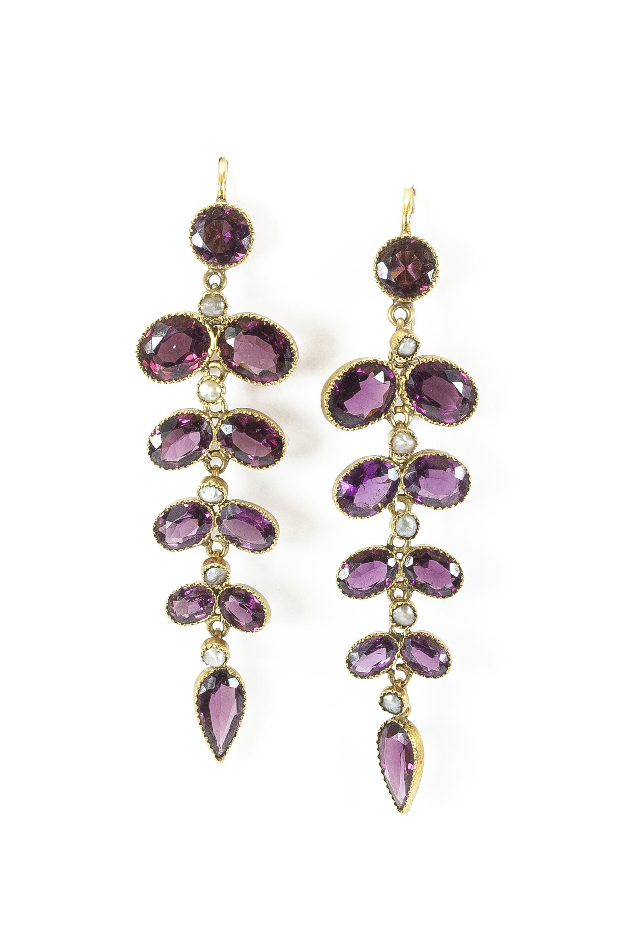 gold cirque rg diamonds products garnet taylor model earrings rose jane rhodolite rga square stud