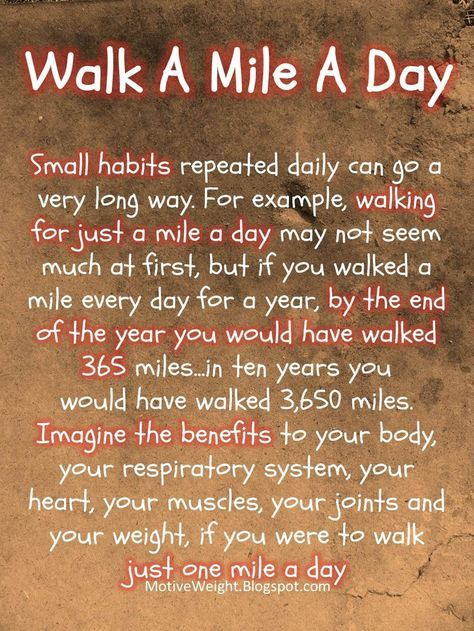 Walk A Mile A Day