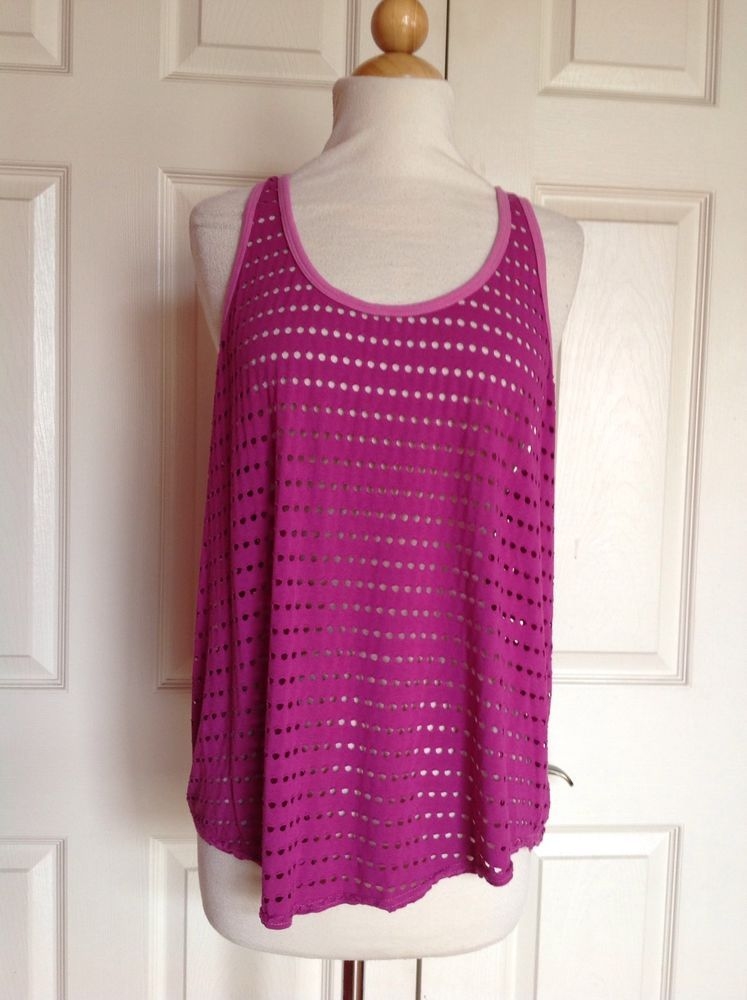 HARD TAIL FOREVER Magenta Pink Slouchy Racer Back Tank Top Size M NEW! NWOT $70 #HardTail #ShirtsTops