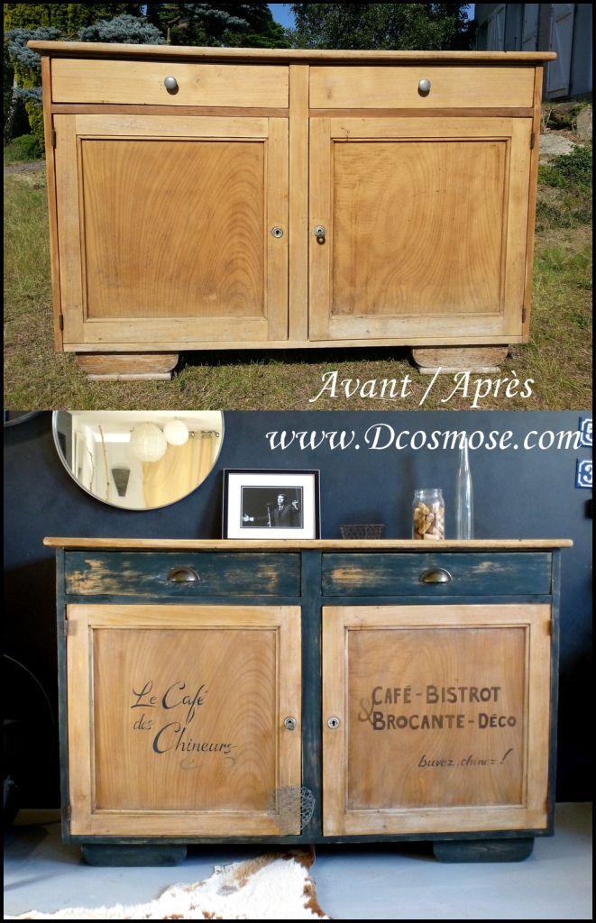 Plus beaux meilleurs relooking meuble meuble buffetcommode bois ancien chaises d tournement d - Meuble ancien restaure ...