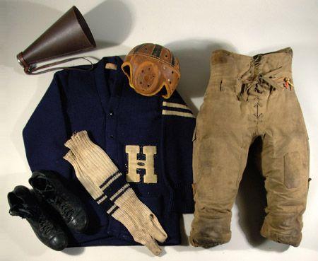 Vintage Football Equipment Ensemble W Name Brand Pants And
