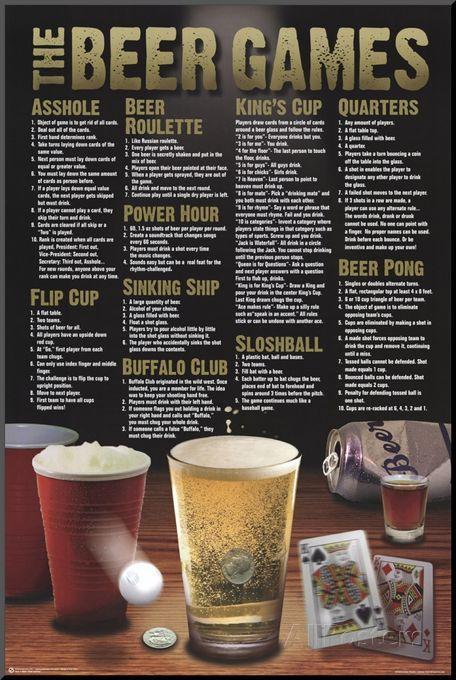 Beer Games Poster At Allposters Com Random Pinterest Cerveza