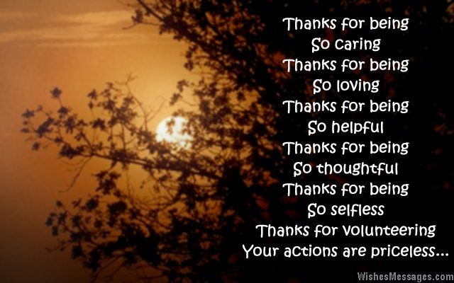 Thank You Messages For Volunteers Appreciation Quotes With