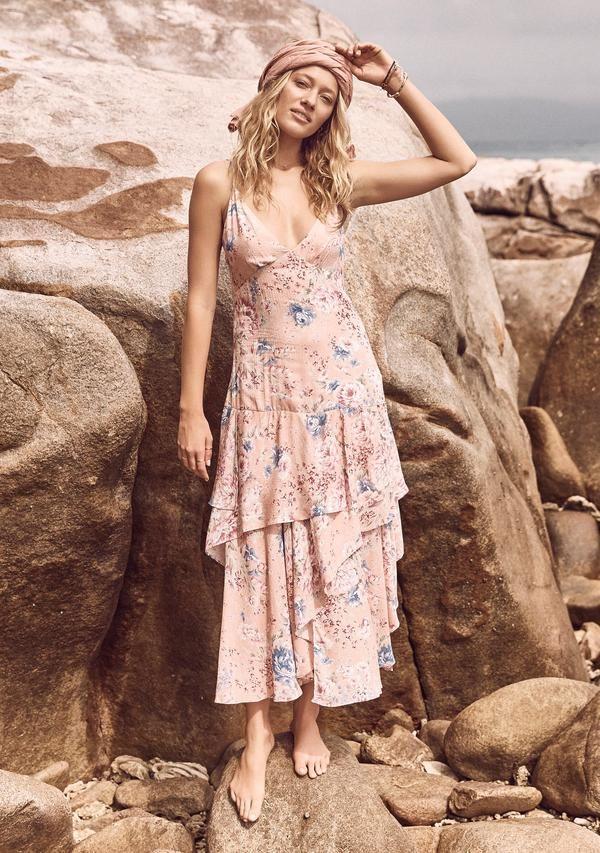 22df16ed70e Dahlia Cascade Dress Blush