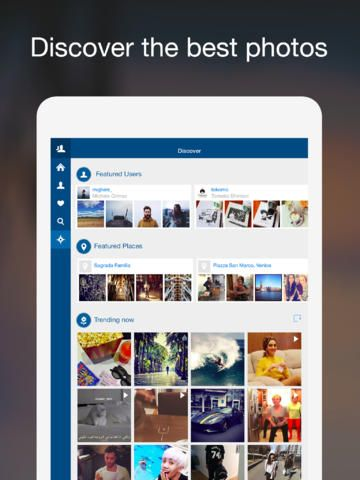 Retro Instagram viewer for iPad