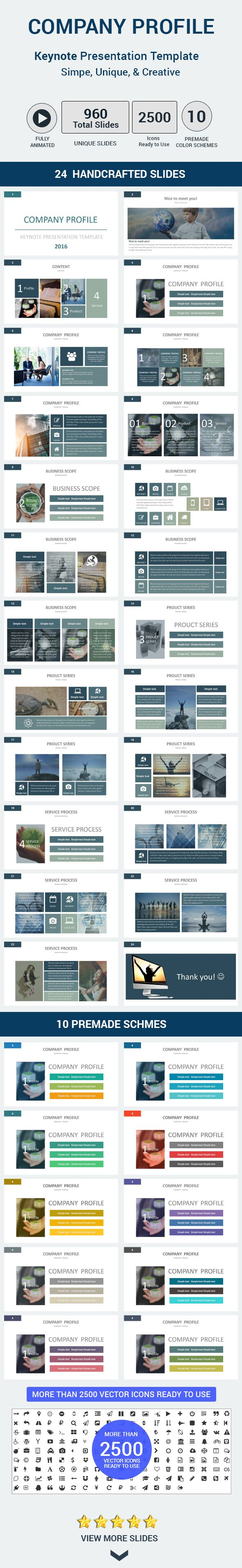 Company Profile Keynote Presentation Template  Company Profile