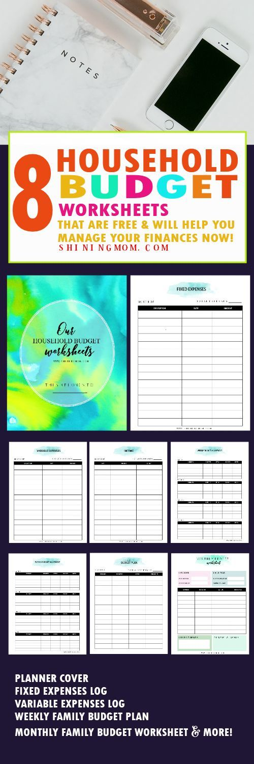 Free Printable Household Budget Templates  Household Budget