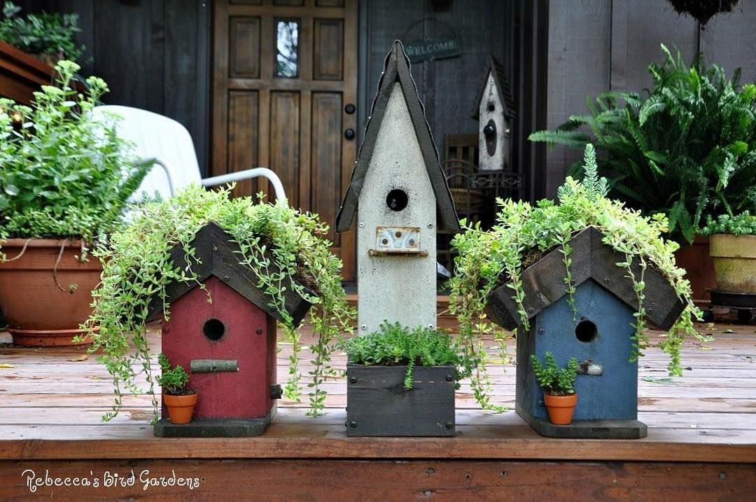 "Red White and Blue birdhouses!: ""Happy 4th! 🇺🇸 # ... on Blue Fox Outdoor Living id=89106"