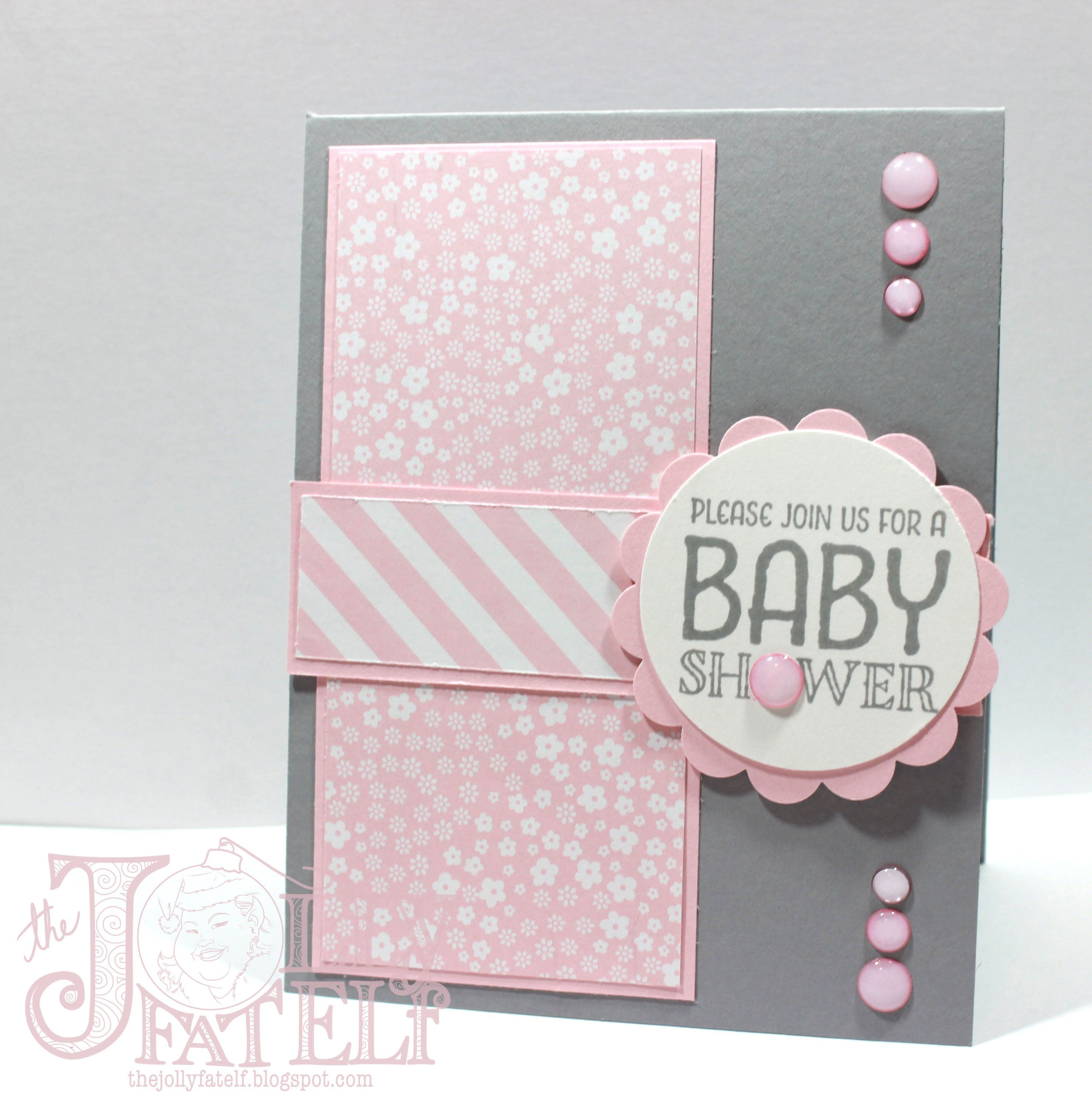 inspirational baby shower invitation wording%0A Saturdays with Stampin Up  Baby Shower Invitation Part