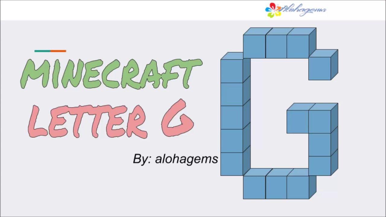 Minecraft Dyi Letter G Minecraft Fonts Diy Minecraft Font