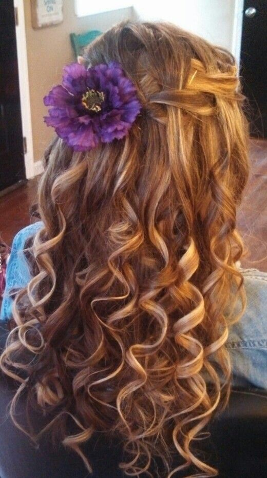 Waterfall Braid And Curls Hair Braids With Curls
