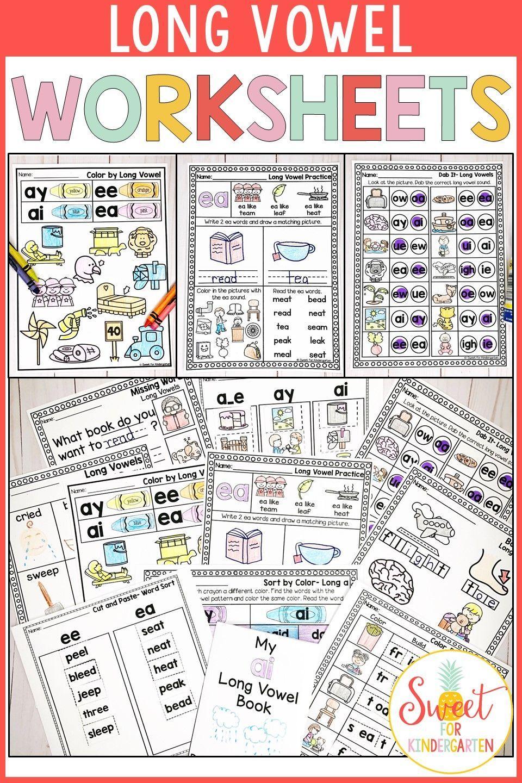 Long Vowel Worksheets Long Vowel Worksheets Vowel Worksheets Kindergarten Phonics Curriculum [ 1440 x 960 Pixel ]