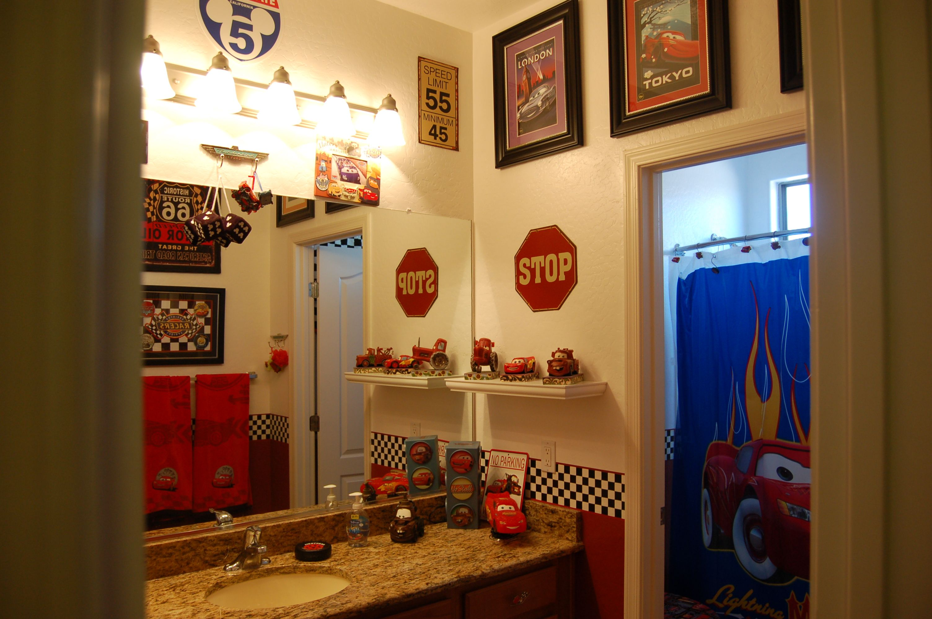 Disney Cars bathroom; Decorating www.mydisneylove.com | New Home ...