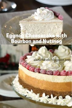 Eggnog Cheesecake with Bourbon and Nutmeg - NEW RECIPES #eggnogcheesecake Eggnog Cheesecake with Bourbon and Nutmeg - NEW RECIPES #eggnogcheesecake
