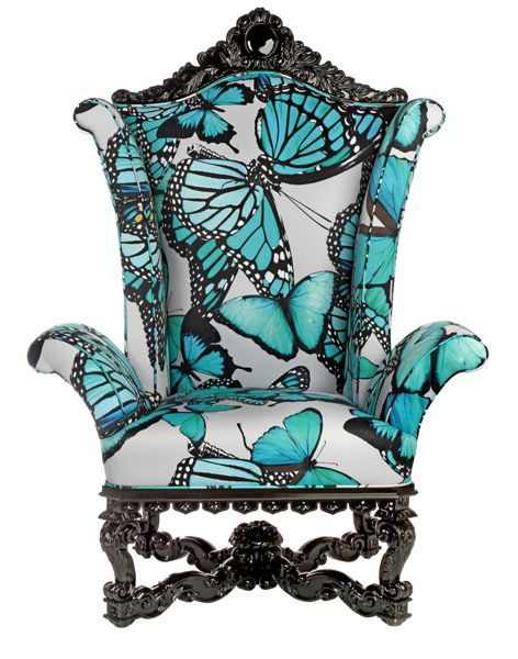 Phyllis Morris Chair in a different fabric