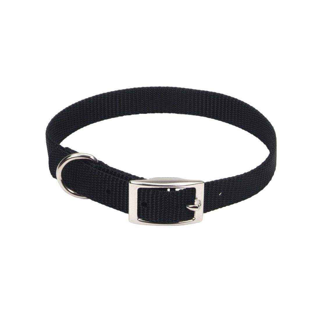 "Coastal Single-Ply Nylon Dog Collar 5/8"" x 16"" Black"