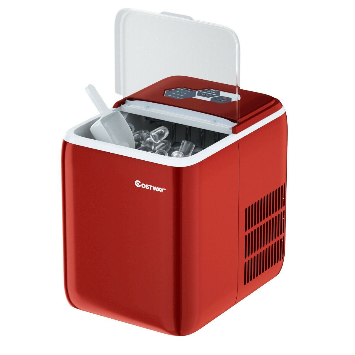 44 Lbs Portable Countertop Ice Maker Machine With Scoop With