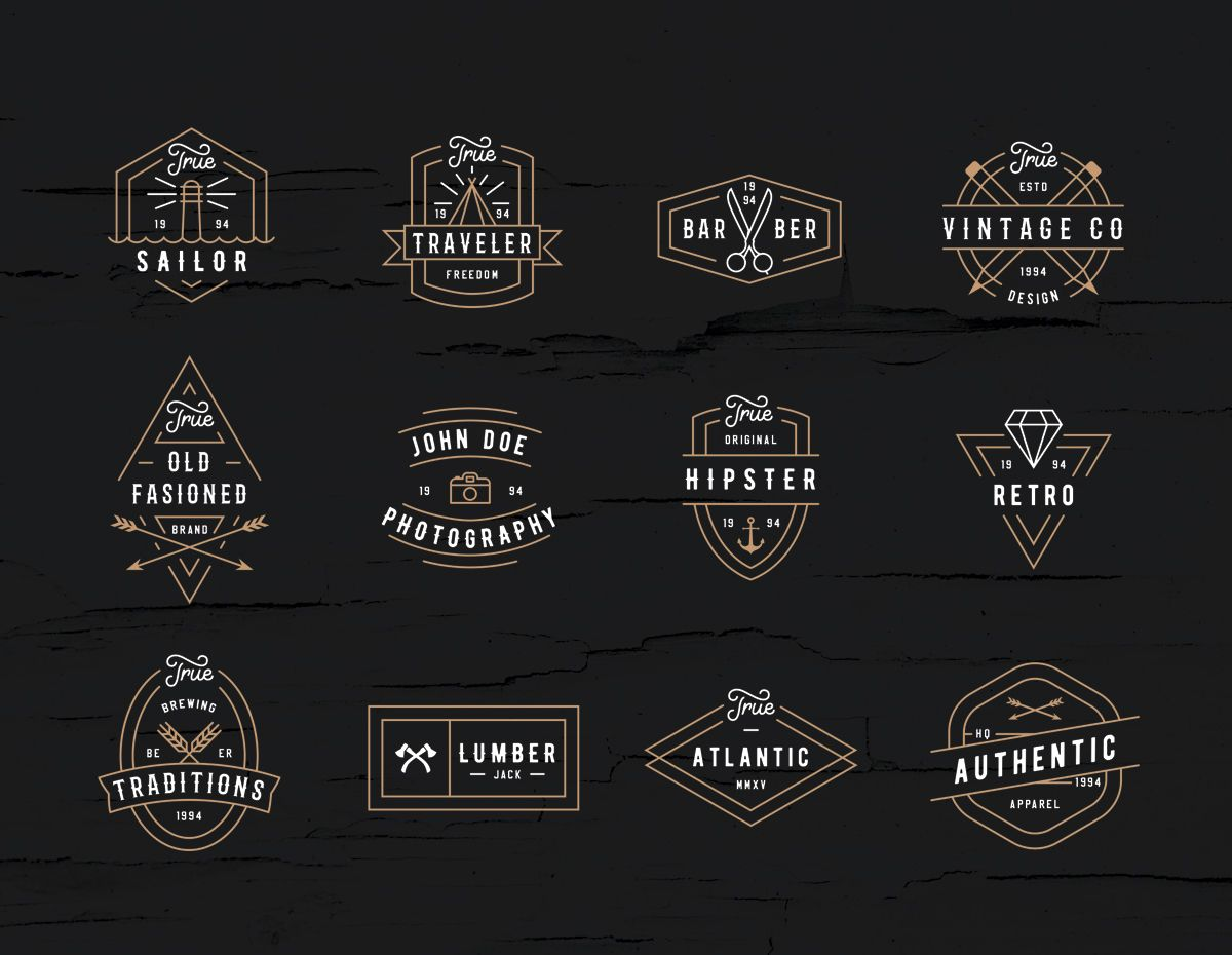 Check Out This Behance Project Modern Retro Logo Pack Retro Logo Modern Retro Vintage Logo