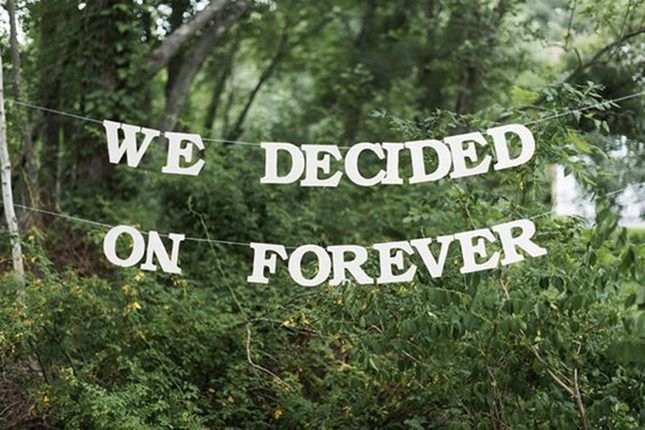 19 creative ways to use quotes in your wedding decor weddings 19 creative ways to use quotes in your wedding decor junglespirit Gallery