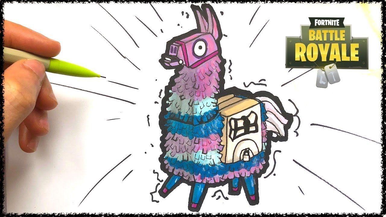 Dibujo Llama Fortnite Fortnite Battle Royale Drawings Cool