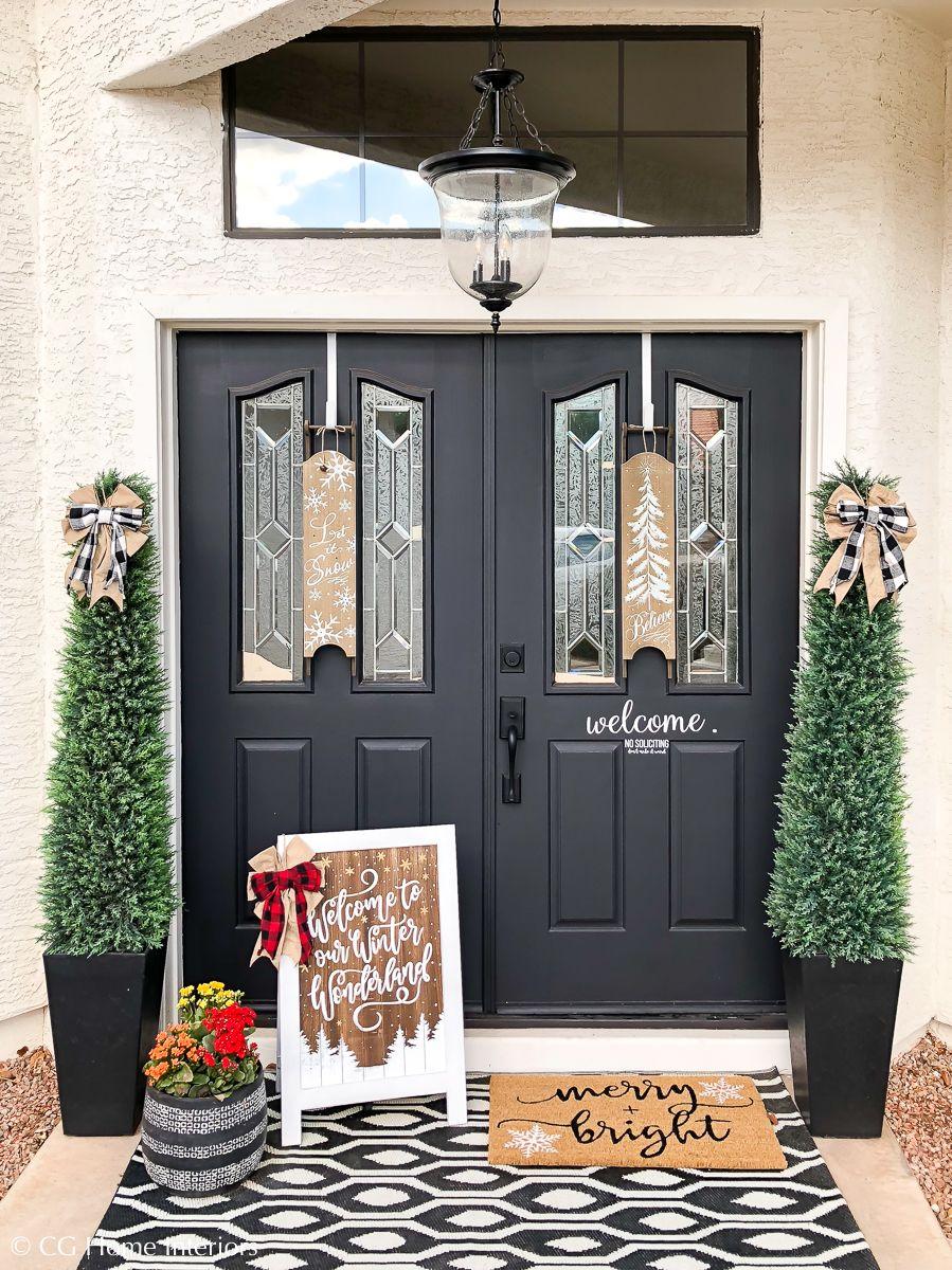 Simple + Neutral Front Porch Christmas Décor   Front porch ...