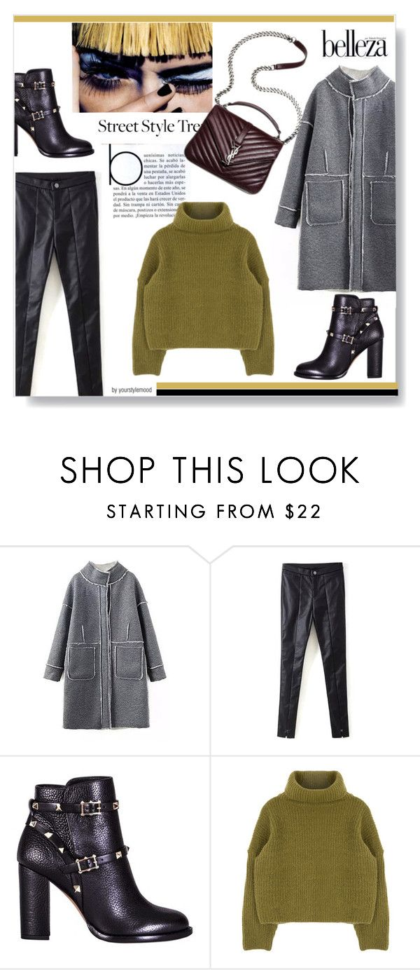 """""""Winter style"""" by yourstylemood ❤ liked on Polyvore featuring Valentino, women's clothing, women, female, woman, misses and juniors"""