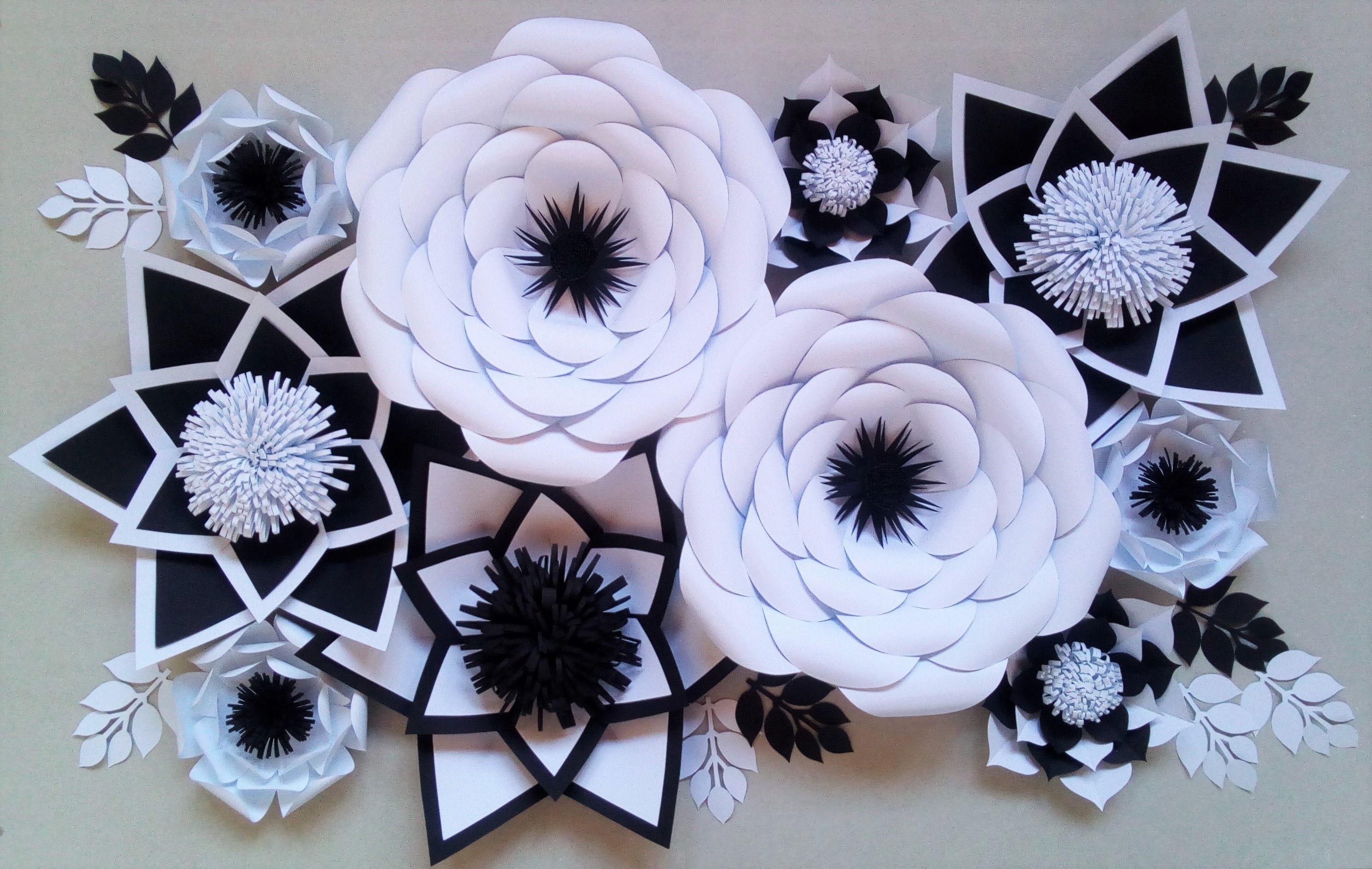 Kwiaty Z Papieru Paper Flowers Kwiaty Chanel Paper Flowers Flower Backdrop White Flowers