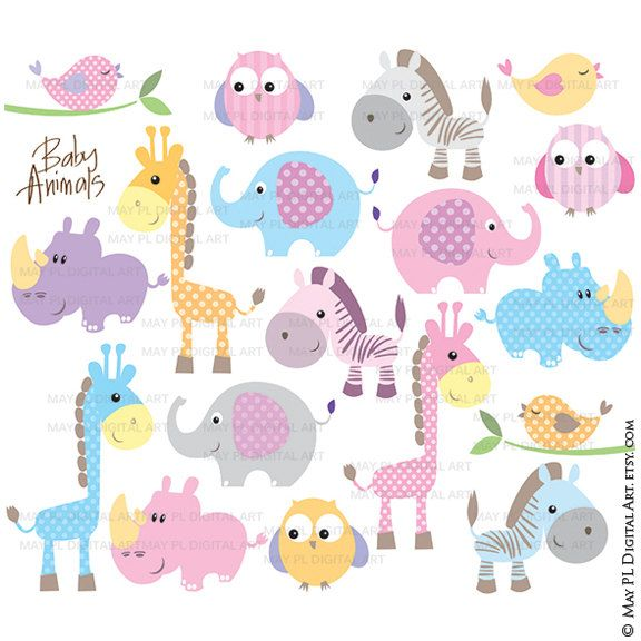 baby animals clipart free commercial use cute clipart featuring rh pinterest nz baby jungle animals clipart baby animals clipart png
